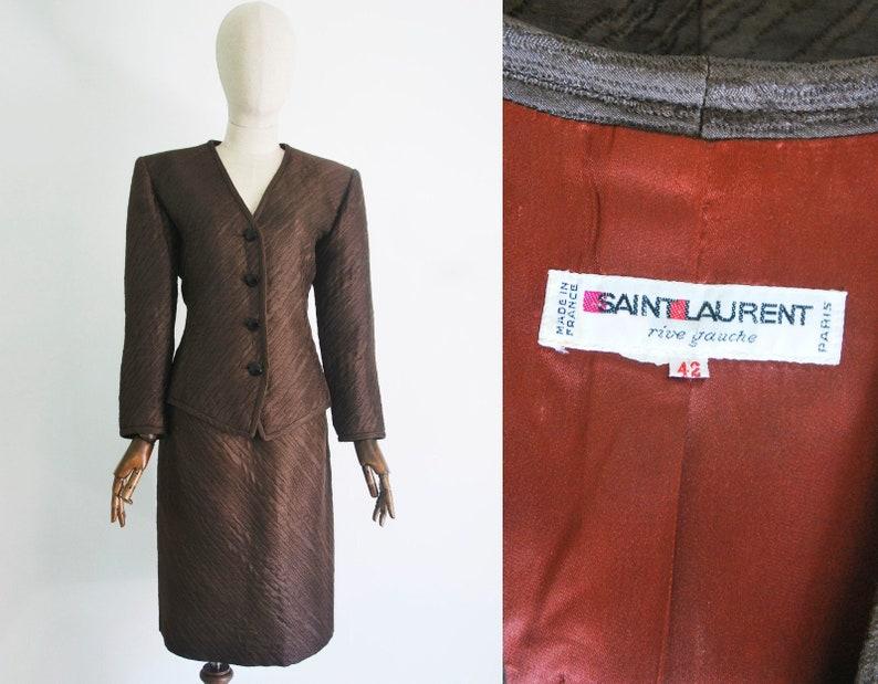 4d234476df7 YVES SAINT Laurent tailleur. YSL two-piece skirt suit in | Etsy