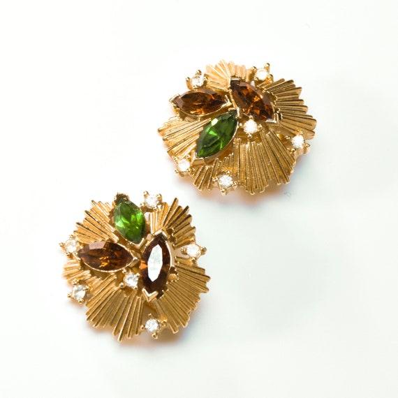 VINTAGE TRIFARI earrings, vintage 80s trifari cli… - image 4