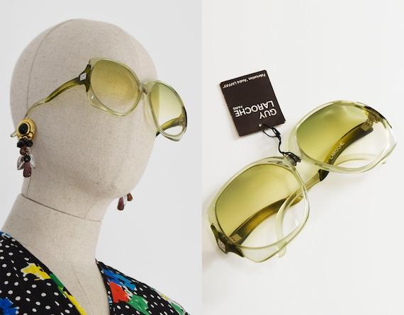 GUY LAROCHE sunglasses, vintage Guy laroche green