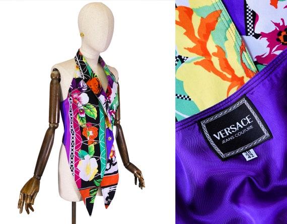 VERSACE vintage vest, 1990s Versace Jeans Couture