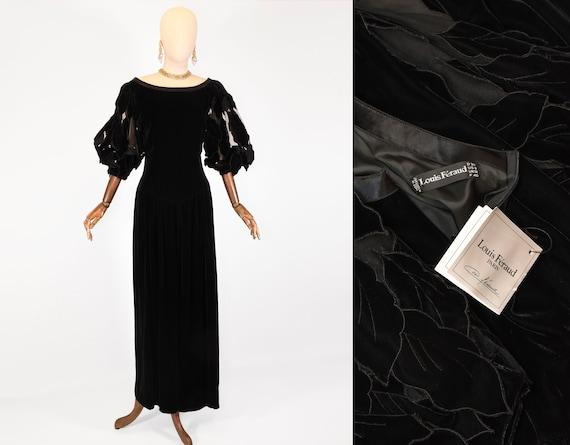 LOUIS FERAUD dress, vintage Louis Feraud velvet ev