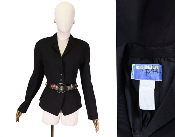 THIERRY MUGLER jacket, Thierry Mugler Vintage Blac