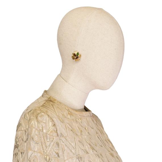 VINTAGE TRIFARI earrings, vintage 80s trifari cli… - image 6