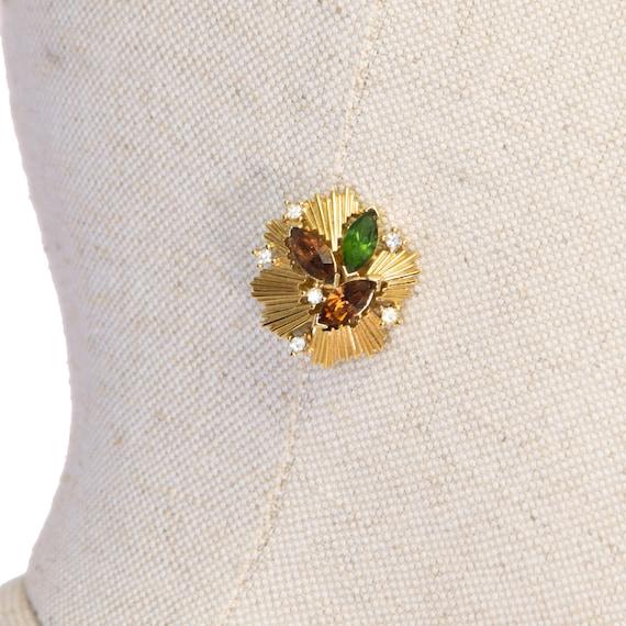 VINTAGE TRIFARI earrings, vintage 80s trifari cli… - image 5