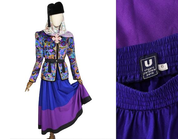 EMANUEL UNGARO skirt, vintage 1980s, Ungaro cotton