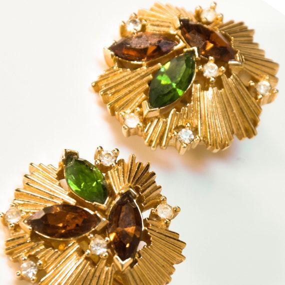 VINTAGE TRIFARI earrings, vintage 80s trifari cli… - image 3