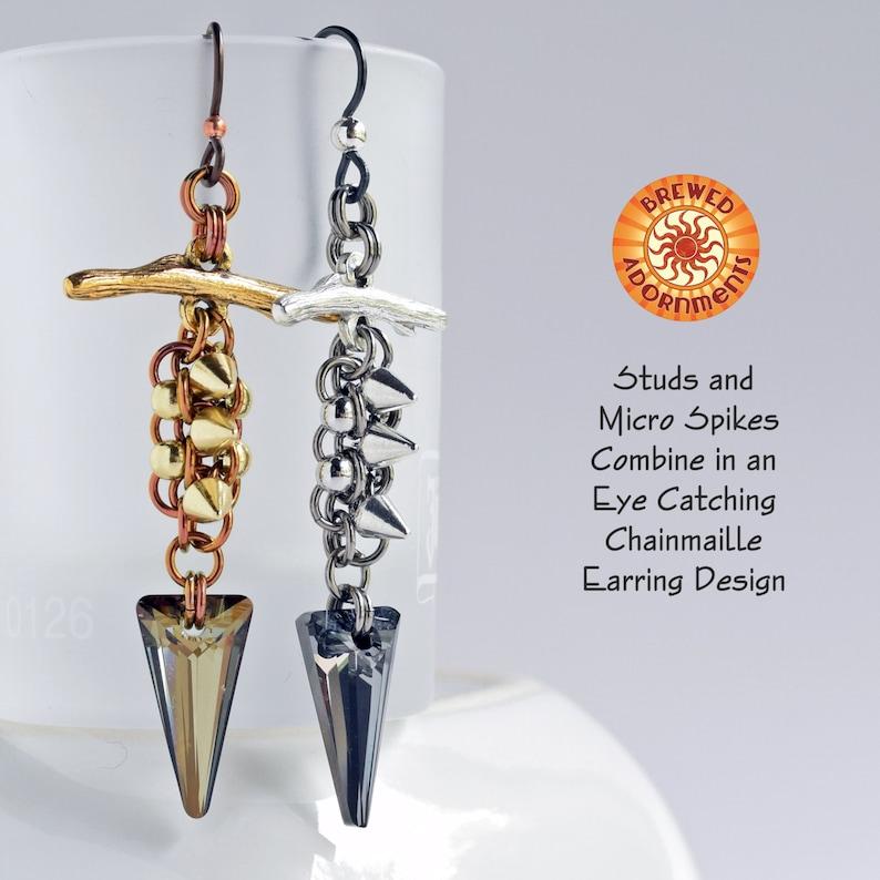 Tutorial Studded Spike Earrings image 0