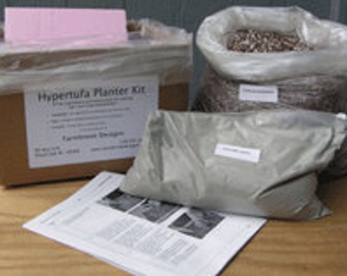 Make your own Hypertufa Planter with our Hypertufa Kit.