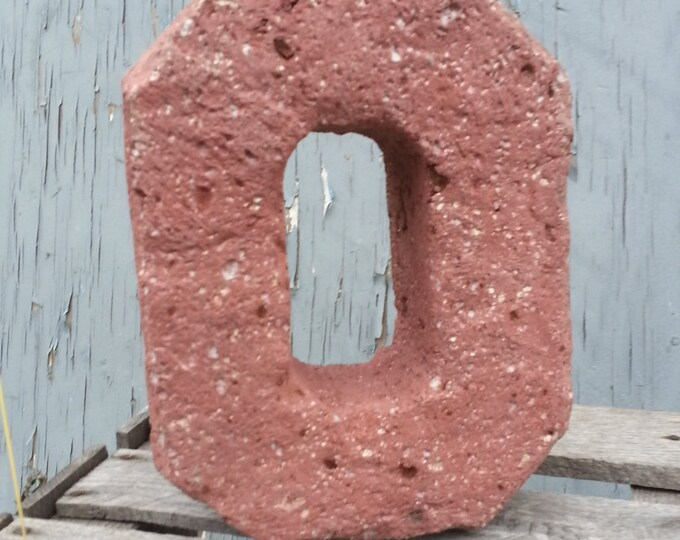 "Ohio State Block ""O"" OSU Carved in Hypertufa"