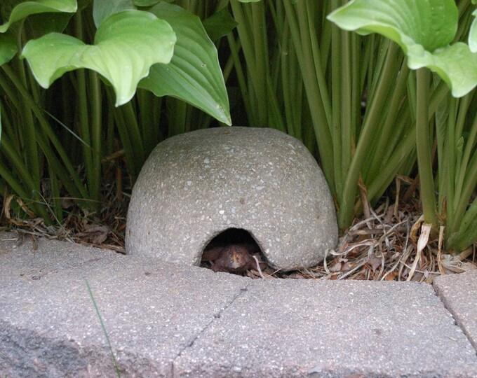 Hypertufa Toad House Lightweight Concrete Toad Abode, Outdoor Garden Art, Sculpture, Decor