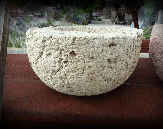 Hypertufa Bowl(Limestone) Small Concrete Pot  Outdoor Planter Garden Decor Concrete Container