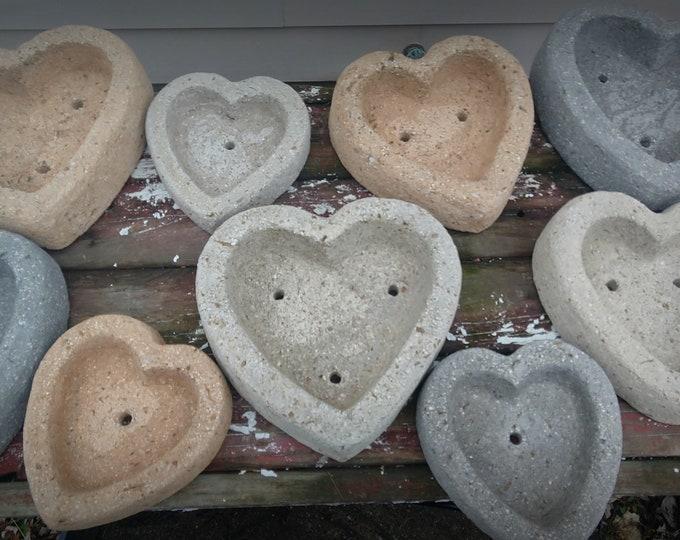 Heart Planter | LOVE-ly Hypertufa Heart Shaped Pots | Lightweight Concrete | Cement Heart | Succulent Sedum Planter | Handmade | 3 Sizes