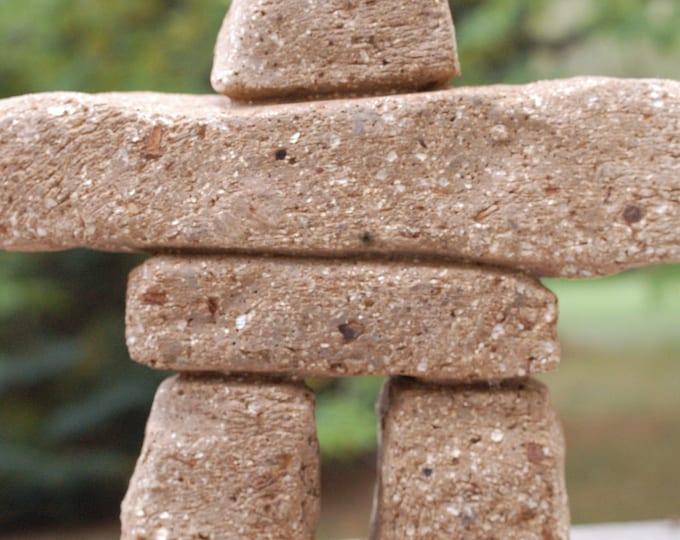"Hypertufa Inukshuk | ""Big Nook"" 12"" Tall | Inuit Garden Art | Hypertufa Sculpture | Frost Proof | Handmade Stone Man | Housewarming Gift"