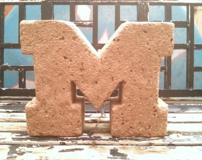 """Michigan Block """"M"""" in Maize at 14""""w x 11""""h Go Blue!"""