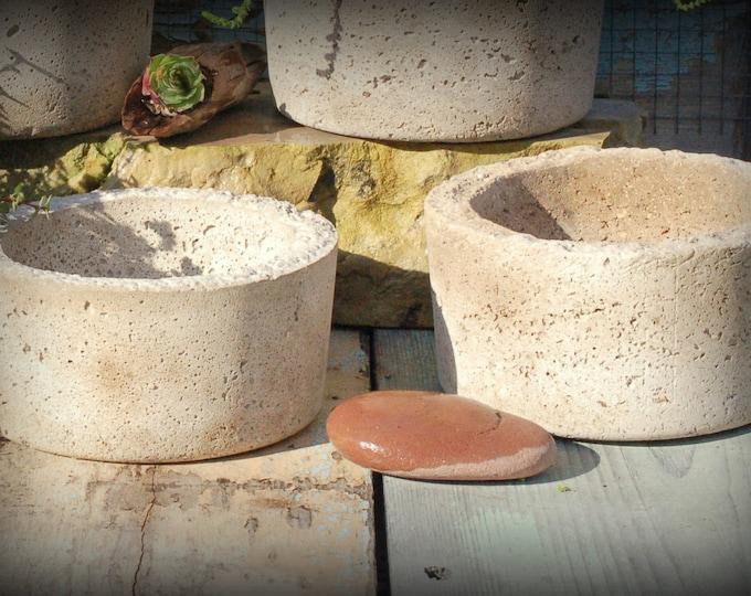 Pair of Simple Hypertufa Pots
