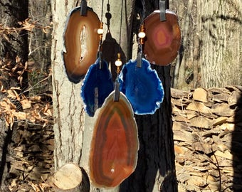 Geode Wind Chime on Driftwood #115