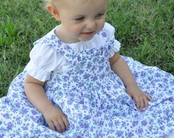 Baby / Toddler Handmade Modest Ruffled Pinafore Jumper - Multiple Colors and Sizes