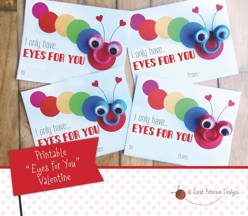 graphic regarding Printable Googly Eyes identified as PRINTABLE - I Basically Contain Eyes for Your self - Do-it-yourself Googly Eyes Finger Puppet Valentine Card - Fast Obtain