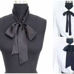 Silk Bow Scarves | 2 Styles | Bow Scarf | Pussy Bow | Head Scarf | More Colors | Gift for Her | Silk Scarf