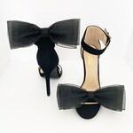 Big Bow Shoe Clips   Black Shoe Clips   Wedding Accessories   Bridal Accessories