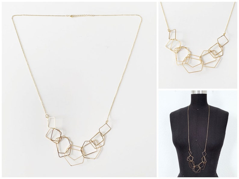 Long Gold Necklace  Minimalist Necklace  Gold Necklace image 0
