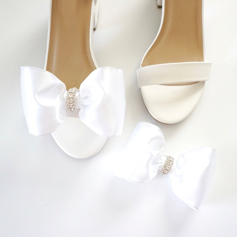 Satin Shoe Clips  Bow Shoe Clips  Bridal Accessories  image 0