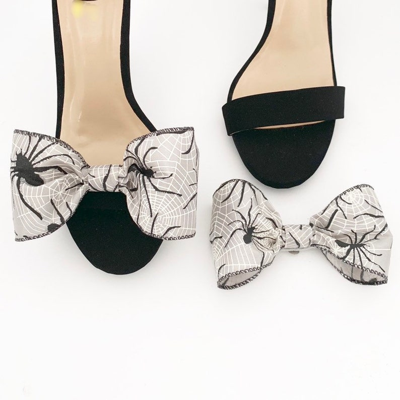Spooky Shoe Clips  Spider Shoe Clips  Bow Shoe Clips  image 0