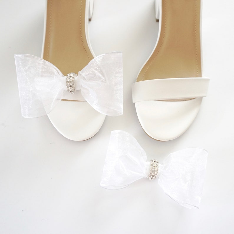 Organza Shoe Clips  Bow Shoe Clips  Bridal Accessories  image 0