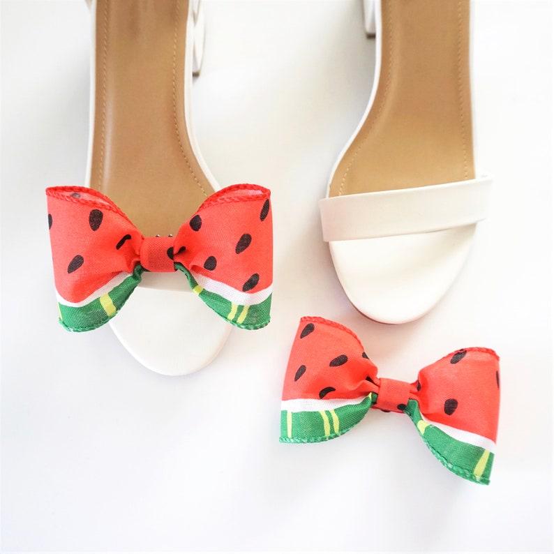 Watermelon Shoe Clips  Bow Shoe Clips  Shoe Accessories  image 0
