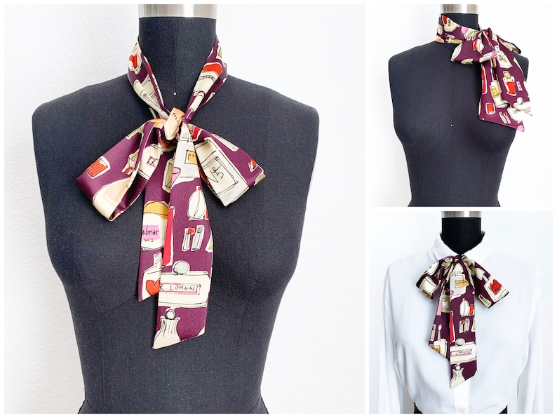 Perfume Bottle Bow Scarves  2 Styles  Bow Scarf  Pussy Bow image 0