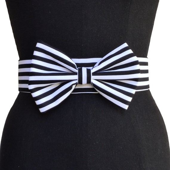 Gros noeud ceinture Ceinture de velours Ceinture noir et   Etsy c5b47118860