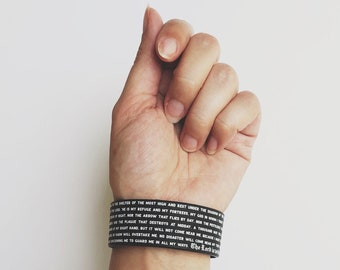 Psalm 91 Silicone Wristband - 2 Sizes
