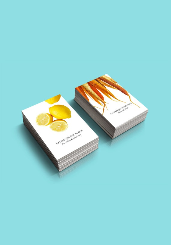 food nutrition business card personalized for you two etsy