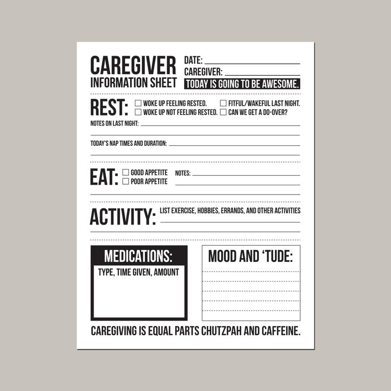 caregiver information sheet for individuals with dementia image 0