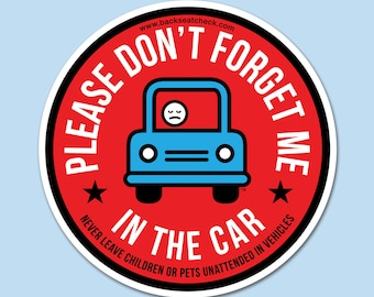50% OFF Sticker: Please Don't Forget Me in the Car Backseat Check Carseat Safety