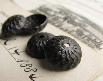 Black acorn bead cap, black antiqued brass, woodland, 13mm (4 bead caps) acorn top, autumn designs, oak tree, acorn beadcap