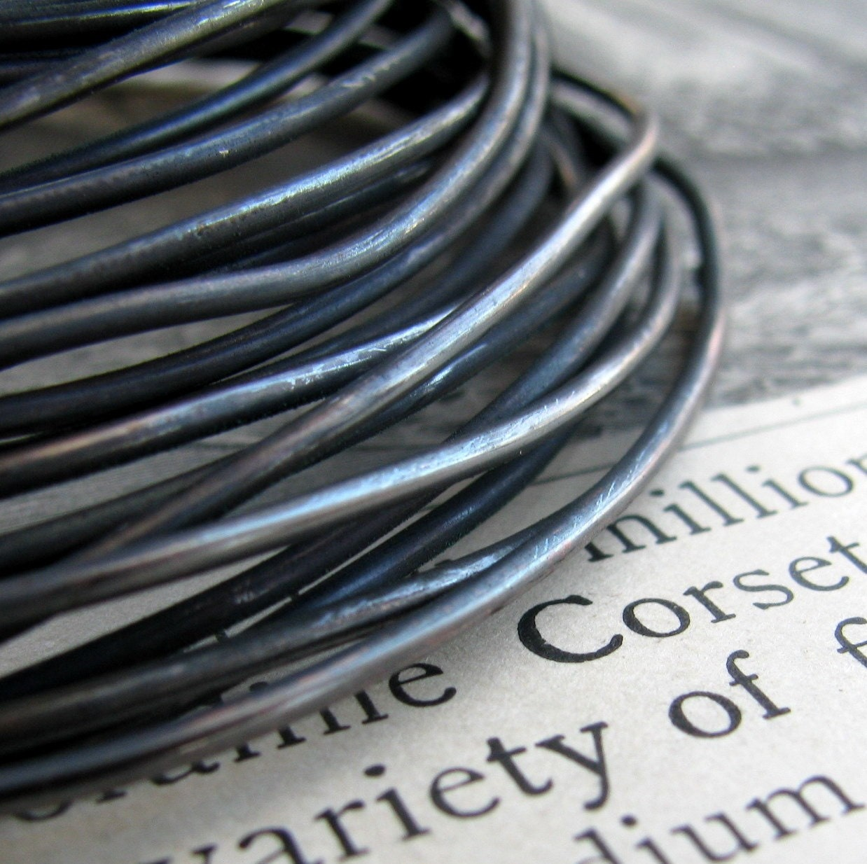 16 gauge black hand antiqued wire coil, dead soft (5 feet) (1.53 ...