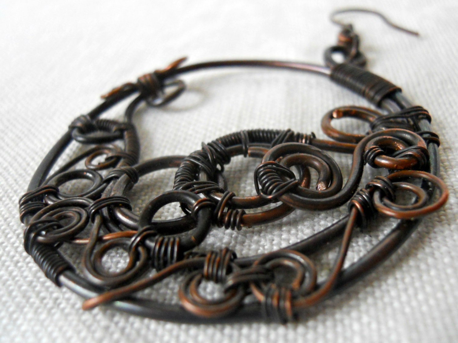 14 gauge, aged black patina, hand antiqued wire, dead soft (5 feet ...