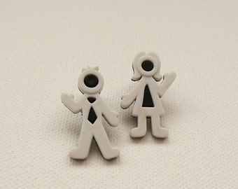 ns-Stick Parents Stud Earrings