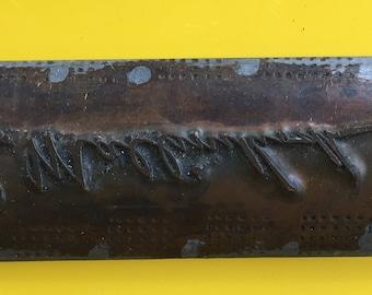 E. Mallinckrodt metal embossing plate
