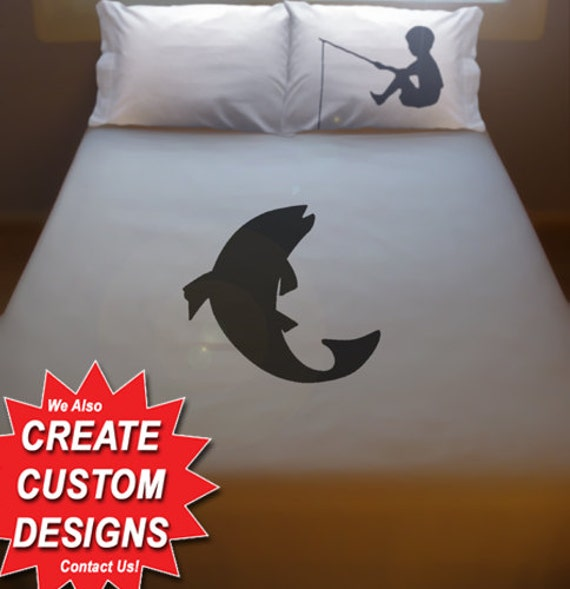 Boy Fishing Bedding Fish Duvet Cover Queen King Twin Size | Etsy