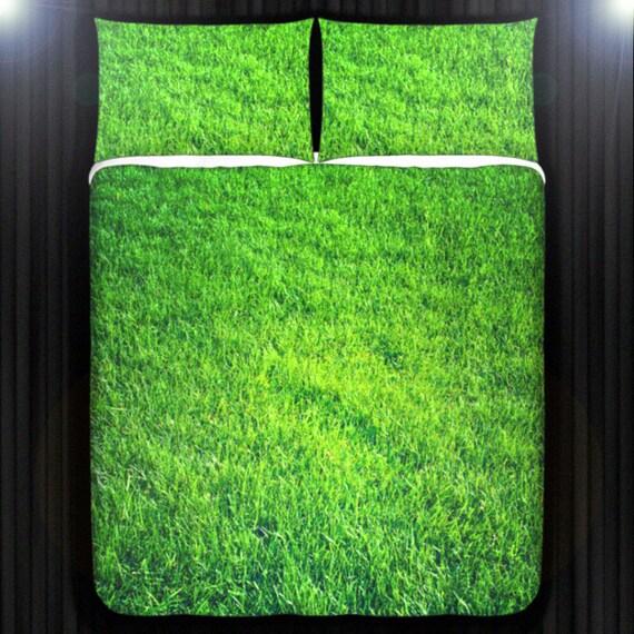 Lawn Turf Green Grass Bedding Duvet Cover Queen Comforter Etsy