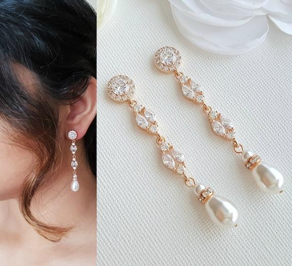 Hochzeit rosegold ohrringe Ohrringe hochzeit