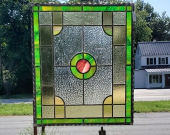 Early 1900's restored Stained Glass Panel