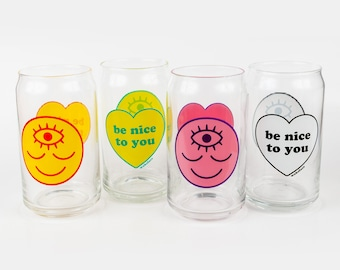 Wokeface / Be Nice to You Drinking Glass