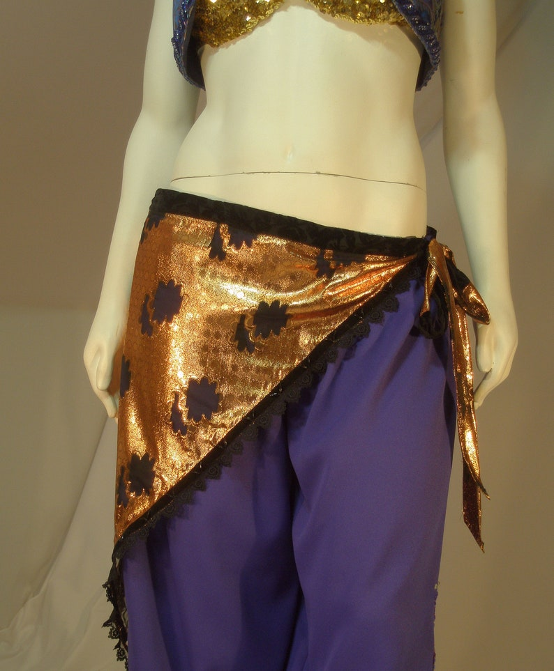 Gypsy Dancer Renaissance Costume ATS Belt Black Belly Dance Costume ATS Hip Scarf Triangle Hip Scarf Lace Hip Scarf ATS Belly Dance