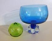 Blue Murano Italian Art Glass Bowl