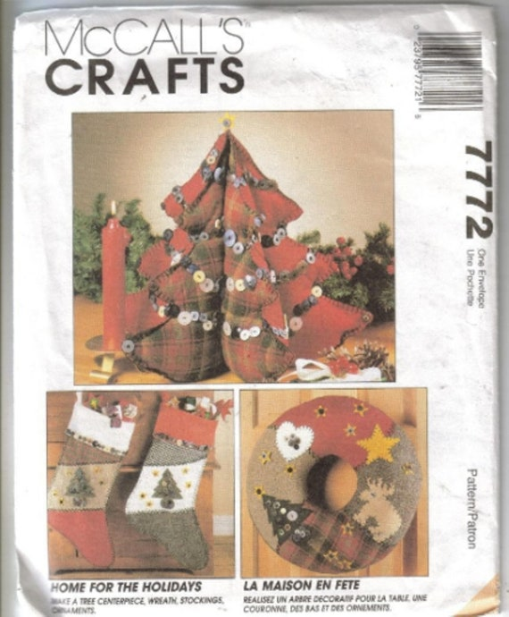 Two Mccalls Crafts Christmas Sewing Patterns M6216 And Etsy