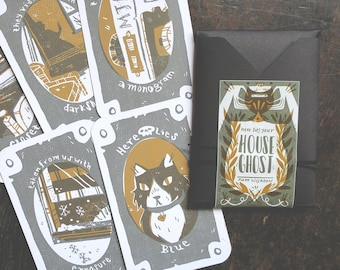 House Ghost - pick your own haunting - mini grab bag card zine