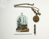 Set Sail - original watercolor terrarium painting